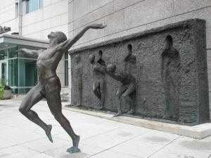 Freedom by sculptor Zenos Frudakais
